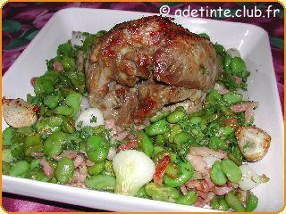 Paule d 39 agneau roul e aux f ves une recette de cuisine avec adt recettes - Cuisiner une epaule d agneau ...